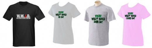 Personalized WWJD T shirts