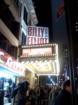 Billy Elliot at the Imperial Theatre till January 8, 2012