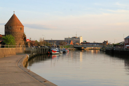 North West Tower and Bure Bridge, Great Yarmouth