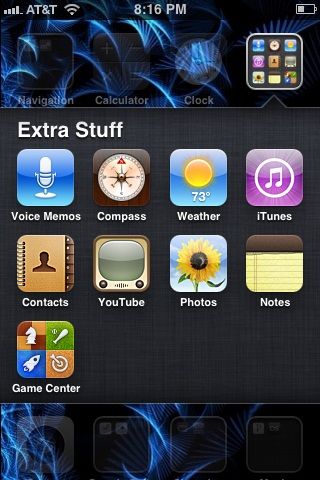 Take a screenshot to show other people an example of how your apps are organized.