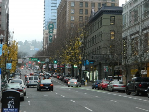 Broadway, Downtown Portland, Oregon