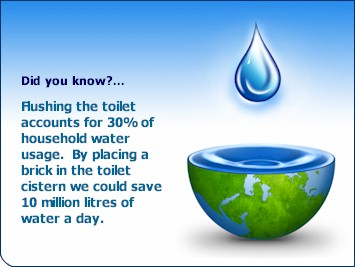 Saving water is becoming more and more important.