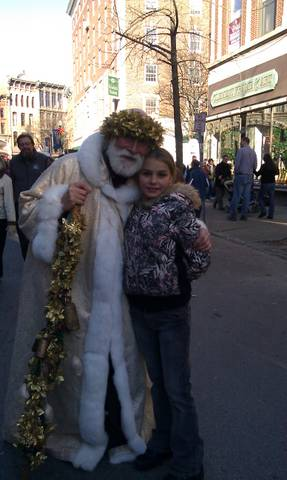 Shelly with father christmas