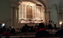 Jazz concert in the church.