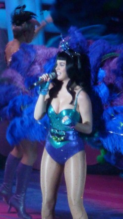 Katy Perry in a Peacock costume