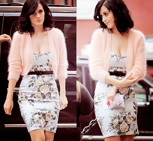 Katy Perry in Wheel & Doll Baby dress