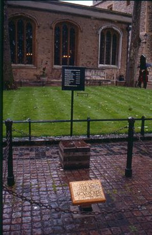 Scaffold site at the Tower of London- the location of many executions