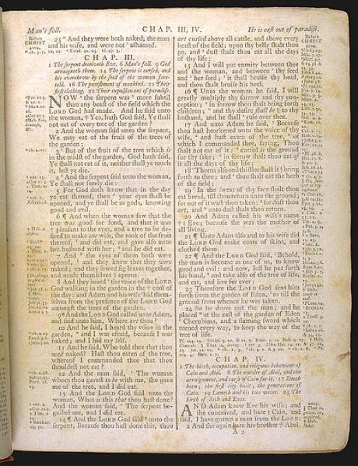 King James Bible, 1772, Genesis Source: Public Domain
