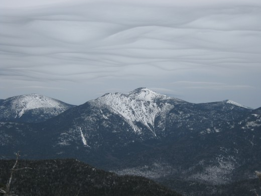 Snow Clouds over the High Peaks, from the Colvin Range, Adirondacks.
