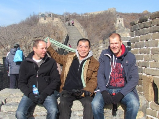 We visited the Great Wall Mutianyu on 5th Dec . It was cold but the weather was so nice .