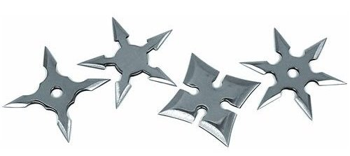 Throwing stars can by purchased sharpened, or with unsharpened, rounded blade edges. Check out state and country law.