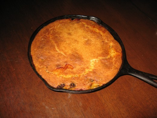 My cast iron frying pan is great for baking cornbread.