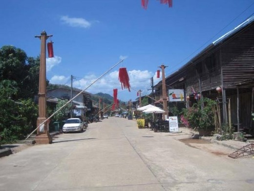A view down the main street of Lanta Old Town
