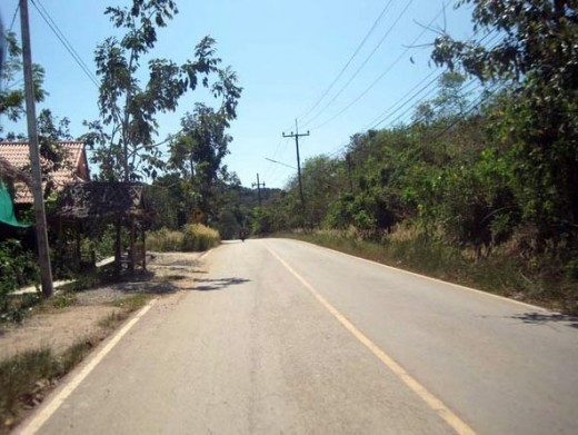 Scooting along the back roads of Lanta