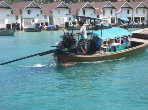 Tourist boats in the harbour.
