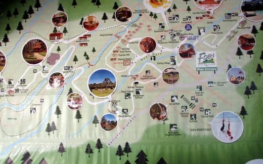 Eden Nature Park map
