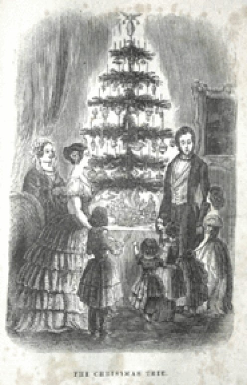 Queen Victoria and Prince Albert with their Christmas tree