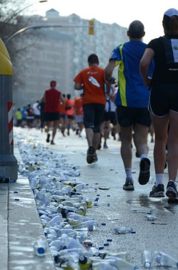 Hydration is key during long distance running events