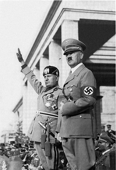 Hitler with Mussolini.