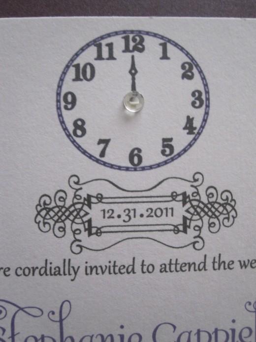 Customized New Years Eve Wedding Invitations- Pocketfolds on Etsy ...