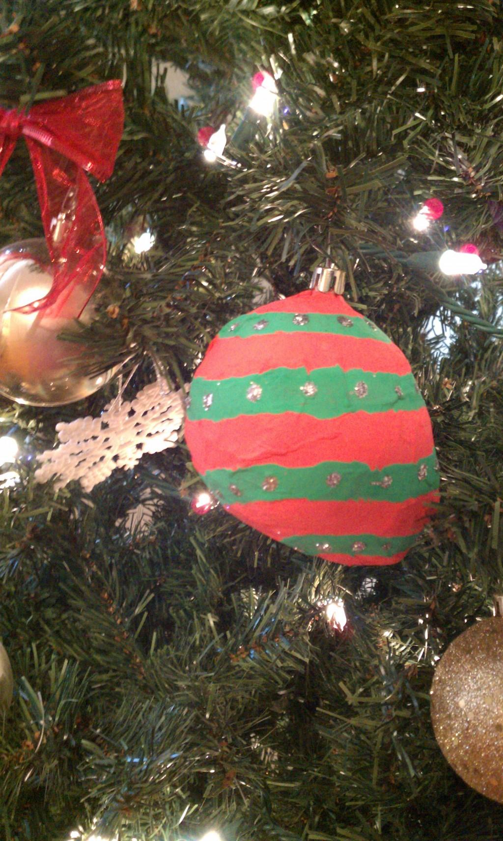 Festive Paper Mache Christmas Ornaments