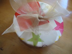 How To Recycle A Cylinder Container Into A Beautiful Christmas Present Box