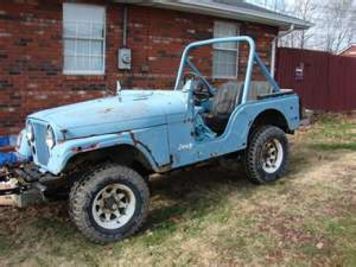 CJ 5 Before. Who would ever see its future potential?