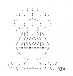 Christmas Nativity Scene in ASCII Text Art