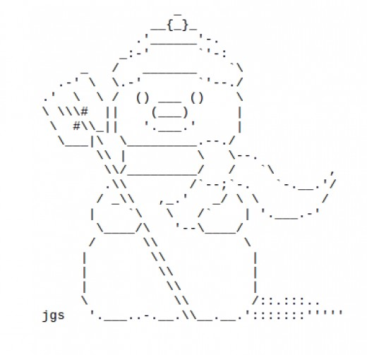 One Line Ascii Art Snow : Snowmen and snow people in ascii text art