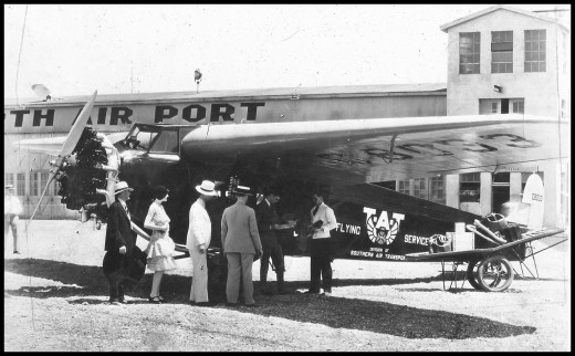 This is one of the first passenger flights from  Fort Worth Meacham Airport. Unknown passengers