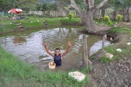 the mud bath pool + our mud bath guide
