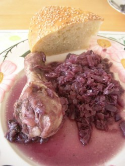Chicken with Red Cabbage