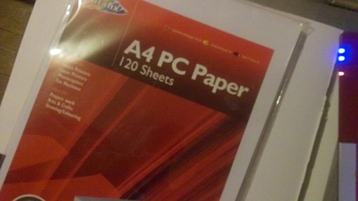 Drawing paper for artists - Consider using computer printing paper for quick sketch ideas as you can buy a pack of over 100 sheets.