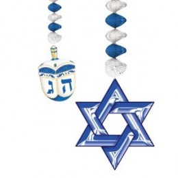 Hanukkah Danglers Party Supplies - Great For Hanukkah Parties and Dinners