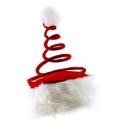 Red Coil Santa Hat - Unisex Christmas hat which can fit any party
