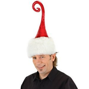 Curly Q Santa Hat - Great hat for the cool guys at Christmas parties