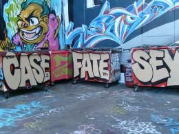 Another person who died is being remembered  in spray paint.