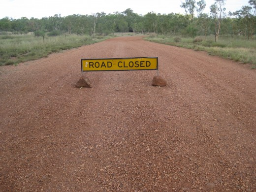 NEVER ENTER when it says Road Closed for your own safety and that of others.