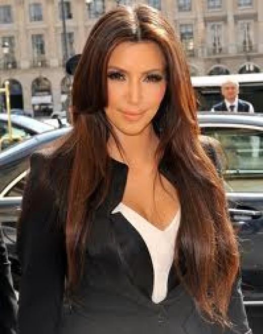Eye contact, as Kim Kardashian shows, acknowledges someone's presence.