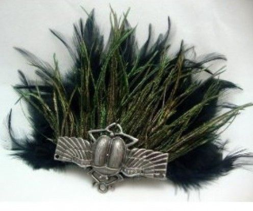 Fabulous scarab hair accessory