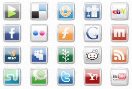 Social bookmarking sites icon