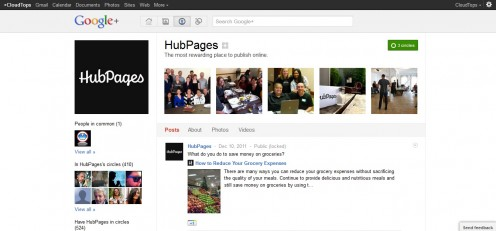 Join hubpages on Google Plus, link provided below