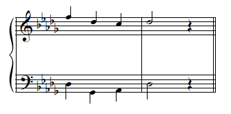 Example 31-b--Bass line creating similar fifths with soprano.
