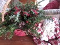 Christmas Baskets With Evergreen Boughs