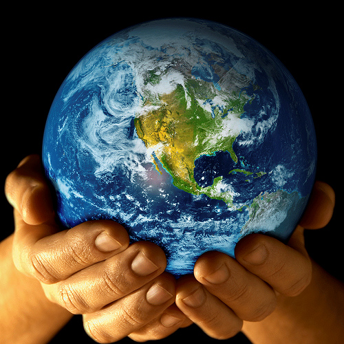 Earth in Hand from www. BackGroundNow.com Source: flickr.com