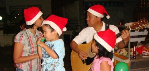 Filipino families get to muster Christmas songs or groups organize themselves into choirs to render more color and sound to the celebration.