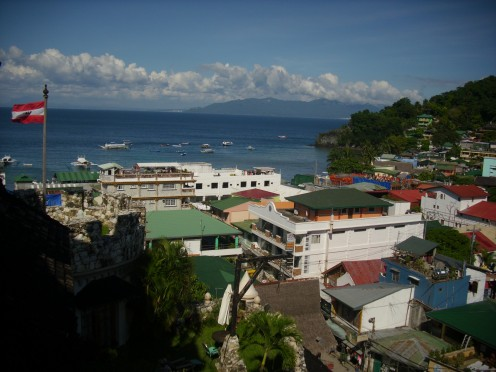 View of Sabang Beach from the Dome of the Tropicana Castle.