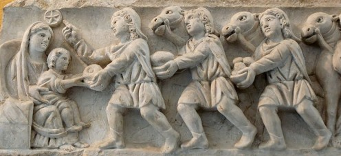 Panel from a Roman sarcophagus, fourth century