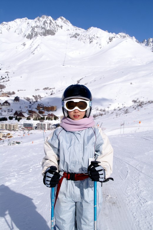 Ski helmets can be a big part of child safety on the slopes.