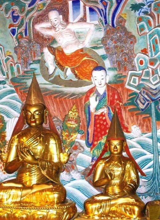 Tibetan Buddhist gods.
